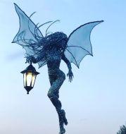Elf with a flashlight Lantern Angel Girl Garden Light Garden Elf
