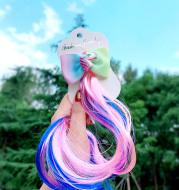 Children'S Color Braided Hair Wig Headdress