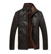 Men's Leather Jackets For Winter Jacket Men And Coats Leather Male Coat For Brand Men's Oblique Zipper Winter Down Biker Jacket