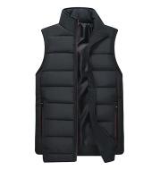 Multicolor Trendy Stand Collar Sleeveless Vest Cotton Jacket