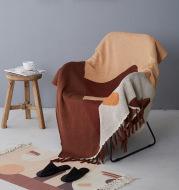 Cotton Knitted Tassel Sofa Blanket Siesta Cover Bed End Blanket