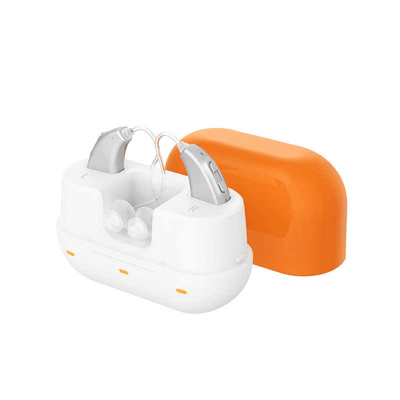Rechargeable BTE Hearing Aid Behind-The-Ear Digital Hearing Aid Sound Amplifier