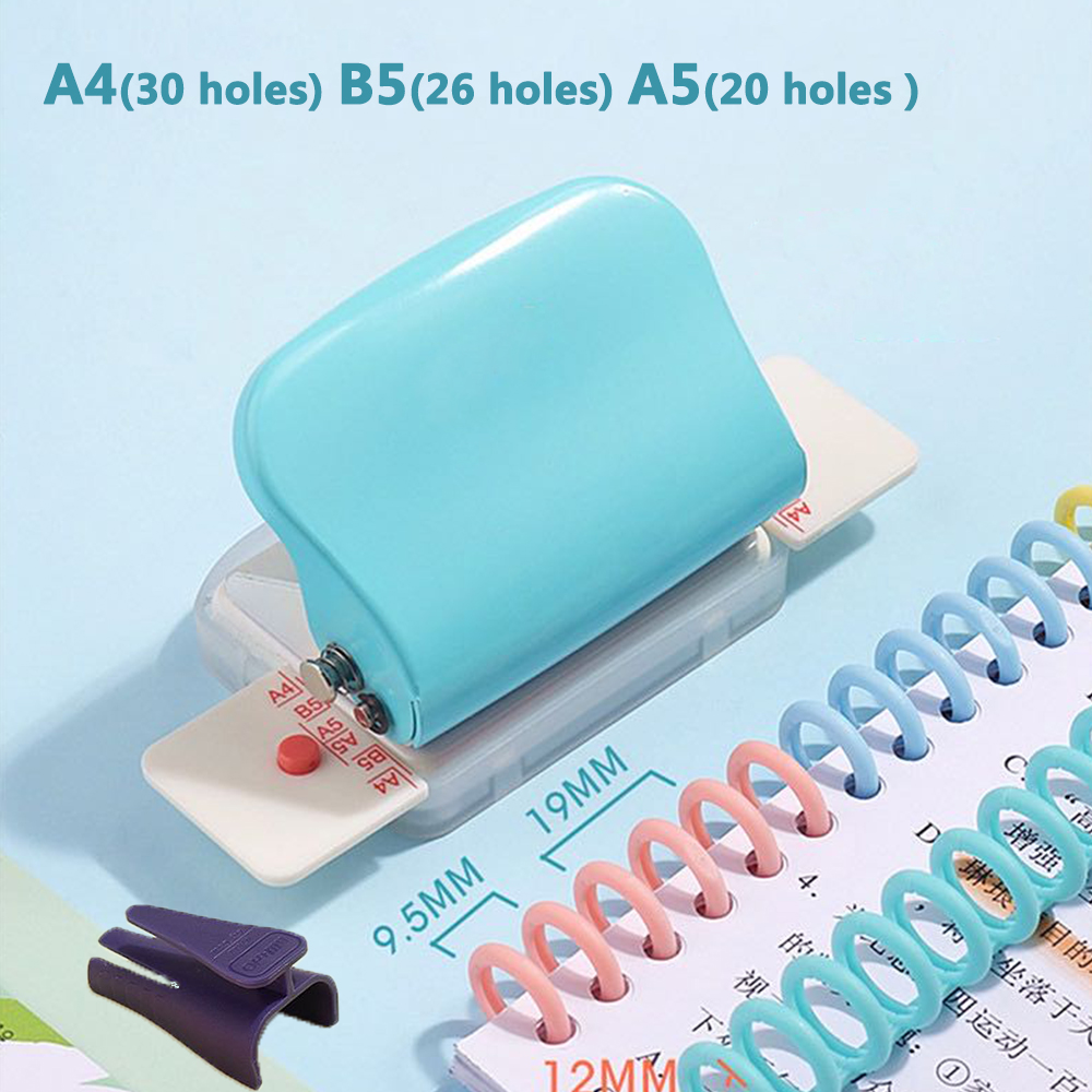 Hole Punch A4 (30 Holes) B5 (26 Holes) A5 (20 Holes) Manual Puncher