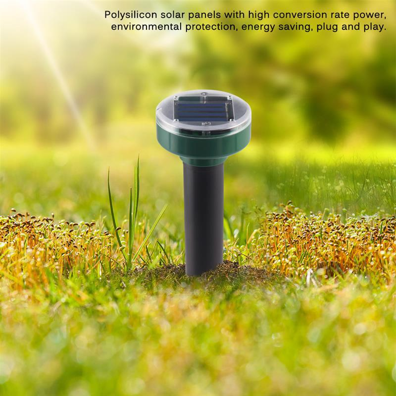 Solar-powered Waterproof Mole-snakes Repellent