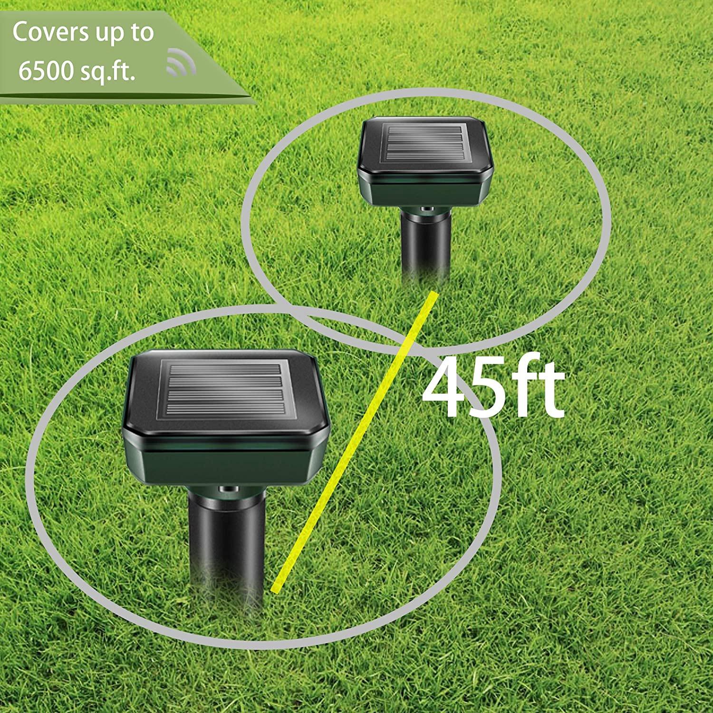 Solar Ultrasonic Expeller Spike Garden Pest Deterrent