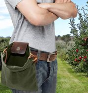 Hiking Portable Folding Waist Bag Foraging Pouch for Camping Berry Storage Bag