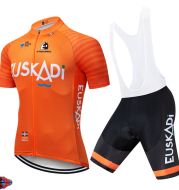 Orange Short Sleeve 12D Cycling Jersey Summer Sports Suit