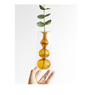 Retro Stained Glass Vase Gourd Hydroponic Flower Plant