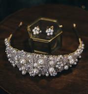 Handmade Beaded Beaded Bridal Wide Hairband Wedding Accessories