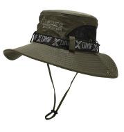 Men'S Outdoor Summer Sunshade Cover Face Fisherman Straw Hat Fishing Sun Hat
