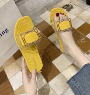 Summer Women's Slippers Transparent PVC Belt