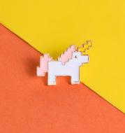 Unicorn Alloy Dripping Pony Brooch Student Shirt Mosaic Pony Animal Collar Badge