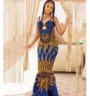 Women''s African Digital Printing Dress Hanging Dress