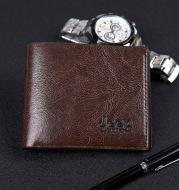 Men's Short Wallet PU Leather