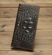 Simple Leather Wallet Female 20 Off Long Retro Male Oil Wax Leather Embossed  Pattern Unisex Wallet All-Match Wallet