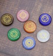 Seven Opal Chakras Yoga Energy Healing Stone Flannel Bag Wish Amazon Cross-Border Hot Sale