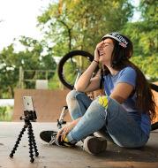 Rotating Bracket Live Photography Mobile Phone Bracket Selfie Stick