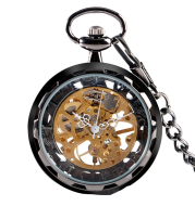 Vintage Mechanical Watch Hollow Without Cover Full Gold Manual Mechanical Pocket Watch