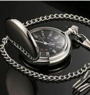 Retro Double-Sided Light Quartz Pocket Watch