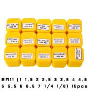 15-Piece Set Er11 Collet, Elastic Chuck 1-7Mm, 13-Piece Set