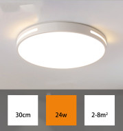 Led Ceiling Lamp Round Acrylic Room Lamp Simple Modern Bedroom Lamp