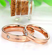 European And American Hot Sale Tungsten Gold Ring Trend Rose Gold Slotted Zircon Tungsten Steel Jewelry
