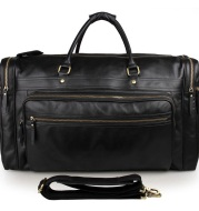 High-Capacity Leather Travel Bag In The First Layer Of Cowhide