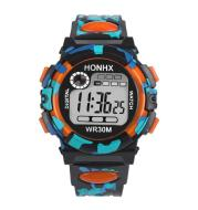 Digital Chronograph Calendar Waterproof One-eye Camouflage Sports Watch