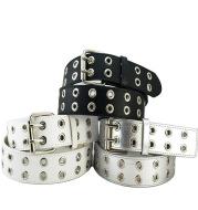 Eyelet Belt Punk Double Row Pin Buckle Belt