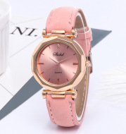 Frosted Leather Belt Watch Ladies Casual Quartz Watch