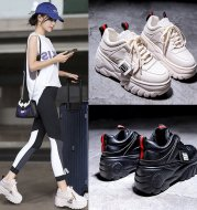Harajuku Platform Shoes Thick-Soled Casual Height-Increasing Ins Sneakers