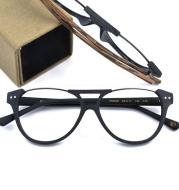 Handmade wood grain glasses lower half frame myopia glasses frame