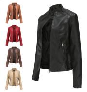 Women'S Leather Dress Slim Jacket Spring Autumn Coat