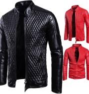 Long Sleeve Zipper Cardigan Jacket Leather Jacket Leather Coat