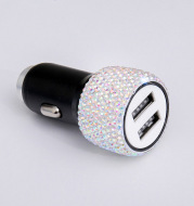 Diamond-Studded Car Mobile Phone Safety Hammer Charger