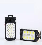 Folding LED Work Light Portable Maintenance Light USB Charging Double Hook