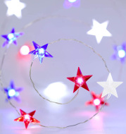 Holiday decoration three-color star shaped light string
