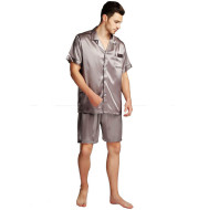 Pajamas Set Pyjamas Nightwear Men Silk Plus Size Satin