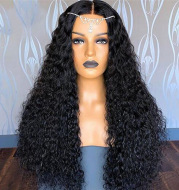 Wig Ladies Mid-length Curly Hair Hand-wrapped Small Curls
