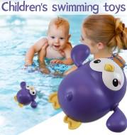 Baby Bath Toy Kawaii Swimming Penguin Bath Pool Toy Cute Wind Up Little Penguin Bath Toys Set Baby Montessori Educational Toys