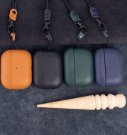 Three-Generation Wireless Bluetooth Headset Box Leather Protective Cover