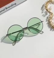 Retro Round Frame Children's Sunglasses, Anti-ultraviolet Sunshade Glasses, British Style Metal Frame Ocean Lens Sunglasses