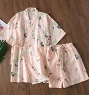 Women's Pajama Sets Shorts Japanese Yukata Underwear Kimono Robe Gown Cotton Suit Nightgown Sleepwear Bathrobe Leisure Homewear