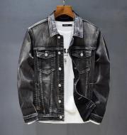 Casual Denim Long-sleeved Jacket Business Men's Denim Jacket