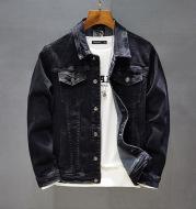 Casual Jacket Black Workwear Men's Top
