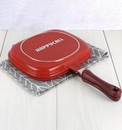 Barbecue Frying-Pan Cooking-Tool Non-Stick Double-Sided Cookware Outdoor And 28CM