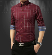 Ethnic Style Casual Long-Sleeved Plaid Shirt