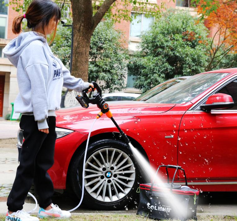 Wireless Lithium Battery Car Washing Machine High Voltage Household Charging Portable 12V24V Car Washing