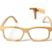 Square Flat Bamboo Full Frame Sunglasses
