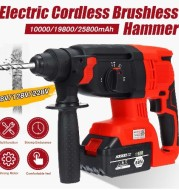 3 IN 1 Electric Brushless Hammer Cordless Power Impact Drill With Lithium Battery Power Drill Electric Drill